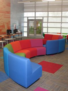 If money were no object - Laurel Series Library Seating - for sectioning one area off from another with making a boxed in feeling Cube Furniture, Teen Furniture, Library Furniture, School Furniture, Space Furniture, Outdoor Furniture Sets, Teen Library Space, School Library Design, Dream Library