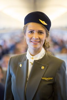 SAS flight attendant Elin Maxweller, pictured here in Dior's New Look uniform, has worked