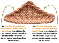 Disminuyendo puntos - Tejiendo Perú Knit Crochet, Crochet Hats, Knitting Stitches, Wool, Video, Patterns, Baby Coming Home Outfit, Crochet Batwing Tops, Knitting And Crocheting