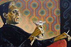Melancholy Monster by Mike Belltattoo Art Print Frankenstein Pop Culture | eBay