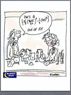 He's a .... out of 10!  #Math #Cartoon