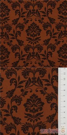 "brown corduroy cotton fabric with flowers, leaves, Material: 100% cotton, Fabric Type: ribbed corduroy cotton fabric, Pattern Repeat: ca. 10cm (3.9"") #Corduroy #Flower #Leaf #Plants #JapaneseFabrics"