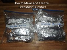 How to Make Breakfast Burritos and Freeze them