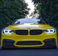 BMW F80 M3 yellow