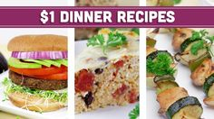 Healthy $1 Dinner Recipes - Easy Budget Meals! - Mind Over Munch https://www.youtube.com/watch?v=oFt7zAsO-8U