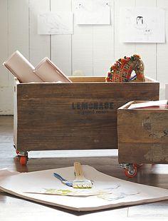 Rolling storage crates