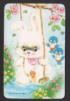 Cute Bunny on Swing