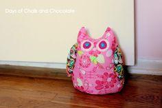 Free Stuffed Owl Doorstop pattern