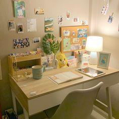 Room Design Bedroom, Room Ideas Bedroom, Bedroom Decor, Bedroom Inspo, Cute Room Ideas, Cute Room Decor, Study Room Decor, Pastel Room, Minimalist Room