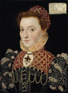 16th Century Portrait of Elizabeth Fitzgerald, Countess of Lincoln, by the Master of the Countess of Warwick