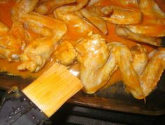 Easy Buffalo Chicken Wings - baked in the oven, and made by my 11-yr-old daughter.