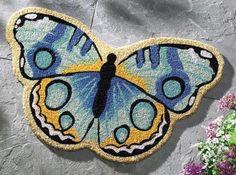 Butterfly Shaped Door Mat