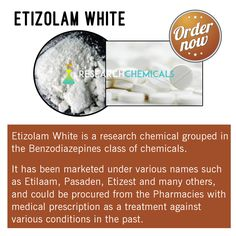 Be the first to grab this #Etizolam chemical at http://www.theresearchchemicals.com/new-products-5/etizolam.html   #TheResearchChemicals #ResearchChemicals #Chemicals