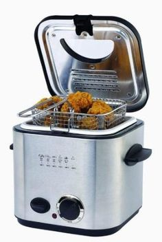 "Regular Price: $29.95  http://www.clickheretopurchase.com/B005HKKJ3Q - 1.2 Liter Deep Fryer. HI-5K100CO Features: -Stainless steel design. -Adjustable thermostat. -Hinged lid with a transparent window. -Powerful 840 Watts for fast frying. -1.2 Liter oil capacity. -Dimensions: 8.5"" H x 11.1"" W x 11.1"" D."