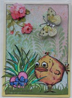 Sophie's Art: Kleiner Schmetterling  -  little butterfly