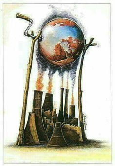 Best Artwork and Illustrations images You Must See! Satire, Global Warming Drawing, Global Warming Poster, Earth Drawings, Global Warming Climate Change, Climate Warming, Satirical Illustrations, Graphic Illustrations, Save Environment