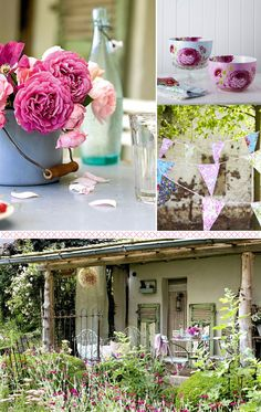 Lovely accessories for outdoor alfresco dining - a place to dream