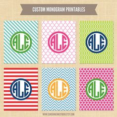 cute monogram backgrounds