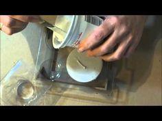 Hogyan készíts szilikon öntőformákat - lépésről lépésre - YouTube Plastic Cutting Board, Decoupage, Stencils, Clay, Handmade, Youtube, Hand Made, Craft, Stenciling