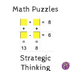 Math Puzzle, Get Students Thinking - Teacher Tech Math Puzzles Brain Teasers, Maths Puzzles, Maths Riddles, Tricky Riddles, Math Worksheets, Logic Math, Math Answers, Exams Funny, Math Genius