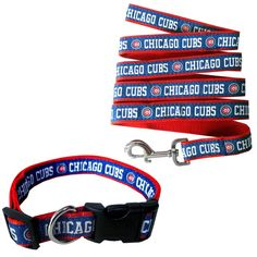 Versalot Specialty Products Genuine 2-piece MLB Chicago Cubs Licensed Pet Collar and Leash Combo Set