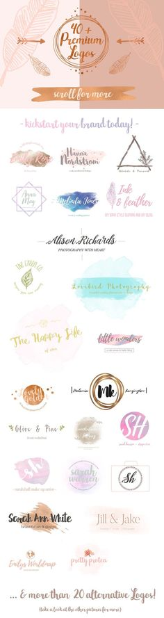 Pretty Premade Branding & Logo Kit