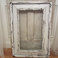 Frame with chicken wire... could use some of these for decor OR to pin notes to yourself on... very shabby chic and very CHEAP