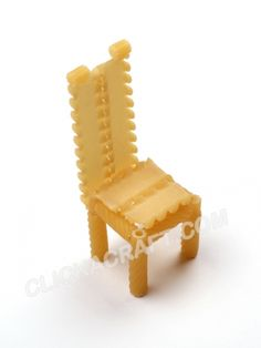 Macaroni Chair (Toy Furniture) - Click on image to see step-by-step tutorial.