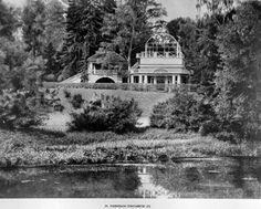 Ancienne photo du Pavillon Elizavetin - Pavlovsk - Construit sur un projet de Charles Cameron et édifié en 1801 par les architectes P. Schroeter et K. Visconti.