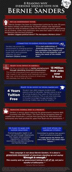 8 reasons why everyone should vote for Senator Bernie Sanders