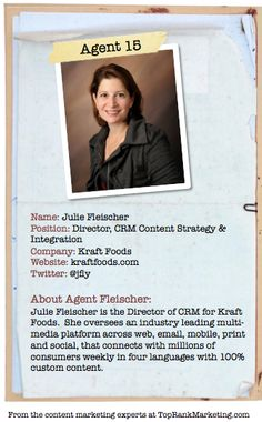 Bio for Secret Agent #15 @jfly  to see her content marketing secret visit tprk.us/cmsecrets