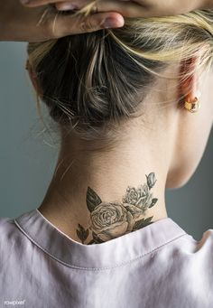 Back neck tattoo of a woman | premium image by rawpixel.com