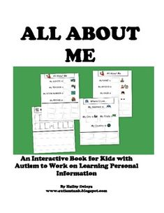 All about me book...great for working on personal information!