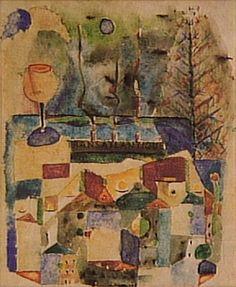Transatlantique 1948 | Antonio Bandeira aquarela e nanquim sobre papel 42.00 x 31.00 cm Coleção Gilberto Chateaubriand - MAM RJ