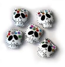 Felt day of the dead