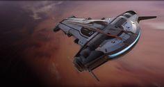 YT-1500 light freighter, Andrian Luchian on ArtStation at https://www.artstation.com/artwork/DwRkR