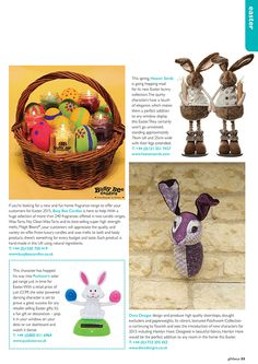Gift Focus Magazine Issue 87 January / February 2015 featuring our Solar Powered Novelty Easter Bunny