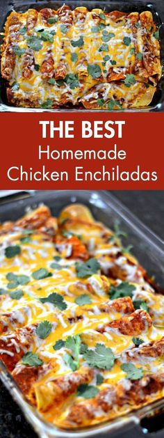 The Best Homemade Chicken Enchiladas. Say goodbye to canned enchilada sauce and get ready to experience a whole new level of taste and authentic flavor with homemade Mexican cuisine.