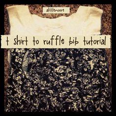 T shirt to ruffle bib tutorial