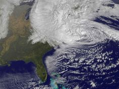 How #Sandy turned into a superstorm (Photo: NASA / NOAA)