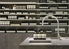 Aesop Store - Apothecary Look. Luxury Beauty, MakeUp, Skincare, New Beauty Products, New Beauty Brands, Beauty Treatments, Organic Beauty Products, Beauty Blog, MakeUp and Beauty Trends. http://whatiwouldbuy.com/HQ+BOTANICAL+SHAMPOO
