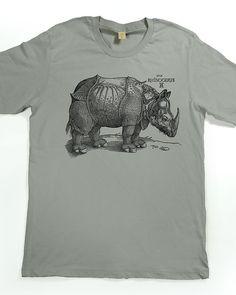 Men's T-shirt - Rhinoceros Shirt - Albrecht Durer Tshirt - graphic t shirt