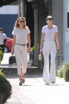 On the move: Gigi Hadid was spotted enjoying a sunlit stroll out in West Hollywood with her half-sister Marielle Hadid this Wednesday Alana Hadid, Gigi Hadid Outfits, Ugly Dresses, Model Photos, Passion For Fashion, Catwalk, Fashion Forward, Fashion Models, White Jeans