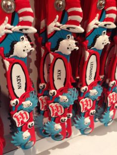 """""""Kyle"""" Thing 1 and Thing 2 bracelet, found by Michelle at Seuss Landing/Islands of Adventure in Orlando."""