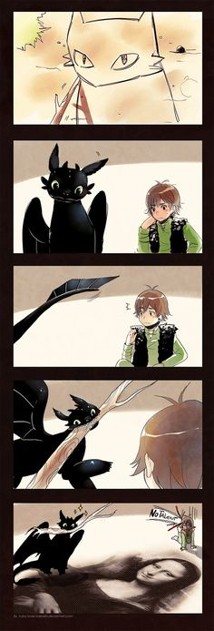 How to Train Your Dragon -Toothless Drawing+ by *iruka-loves-kakashi