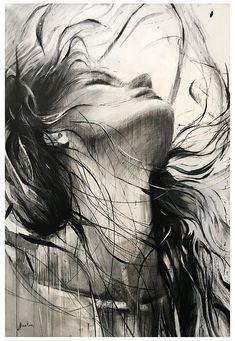 Ewa Hauton Öl auf Leinwand Ewa Hauton oil on canvas - Drawing Techniques Pencil Art Drawings, Art Drawings Sketches, Realistic Drawings, Charcoal Art, Charcoal Drawing, Portrait Art, Art Pictures, Amazing Art, Watercolor Art
