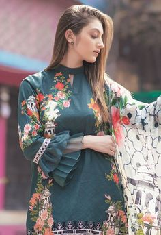 Stunning and Unique Sleeves Designs for Dresses - Kurti Blouse Kurti Sleeves Design, Sleeves Designs For Dresses, Kurta Neck Design, Dress Neck Designs, Sleeve Designs For Kurtis, Dress Designs For Girls, Blouse Designs, Pakistani Dresses Casual, Pakistani Dress Design
