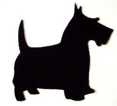 SCOTTIE DOG Template Set - Applique & Stencil Pattern