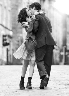 Kissing in the street...