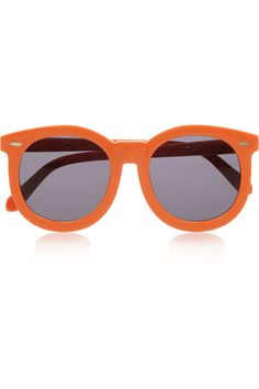 FINDS + Karen Walker Super Worship round-frame acetate sunglasses